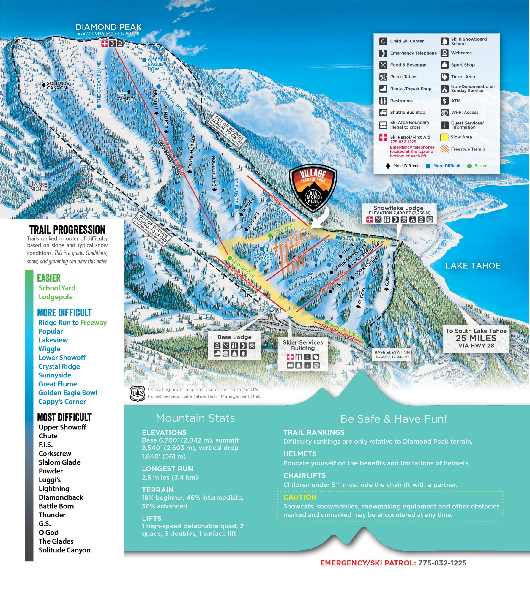 Trail Map Diamond Peak Ski Resort - Eastern-us-ski-resorts-map