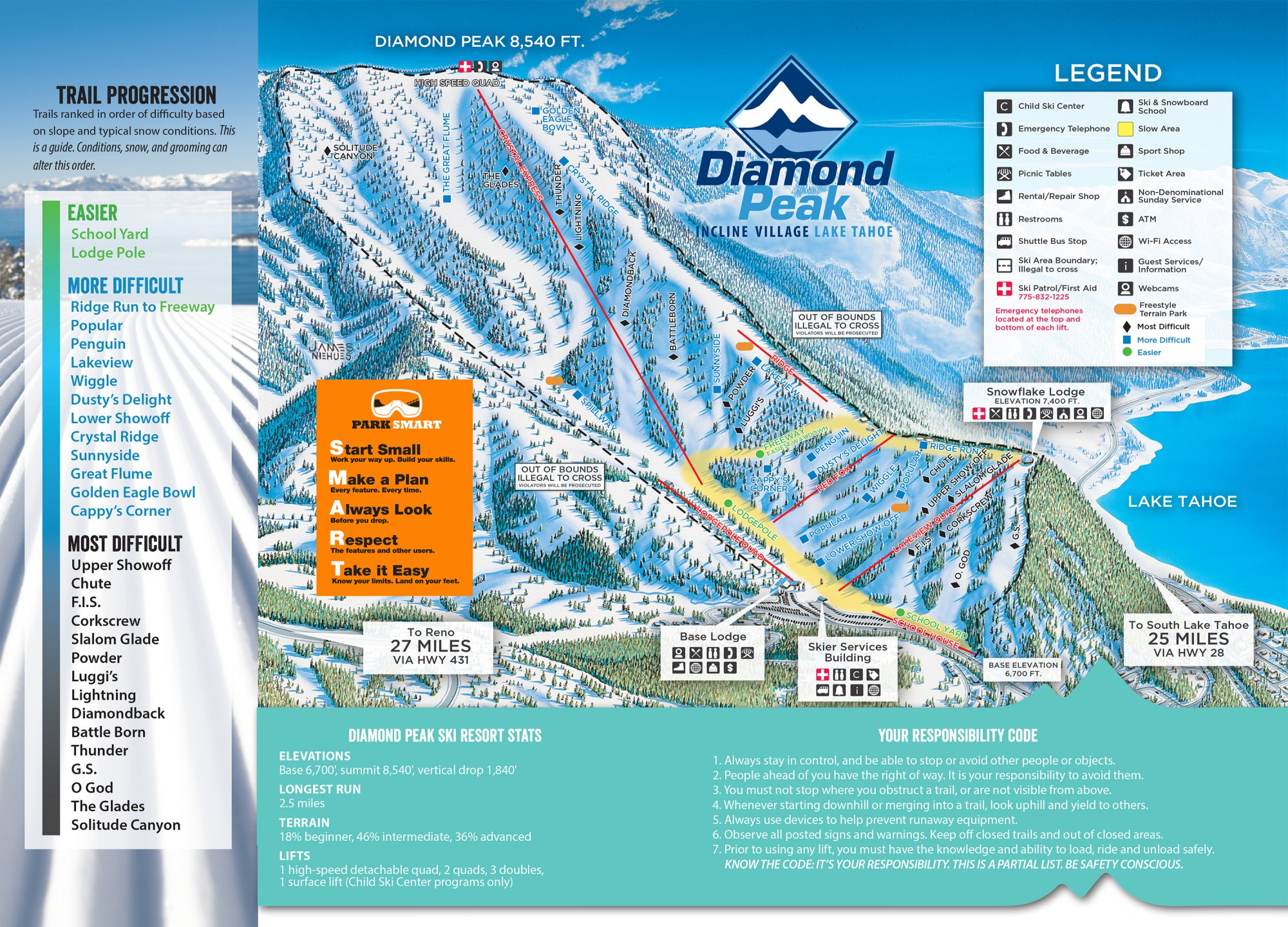Trail Map Diamond Peak Ski Resort